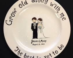 personalized anniversary plate personalized wedding plate painted ceramic wedding