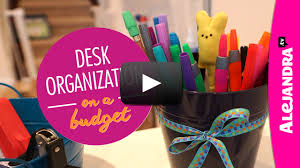 20 Upcycled And One Of by Desk Organization On A Budget Part 2 Of 4 Dollar Store
