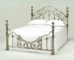 Antique White Metal Bed Frame Style Beds White Style Beds Time4sleep In