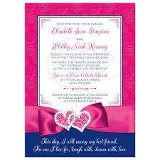 blue wedding invitations wedding invitation royal blue pink white floral printed