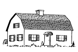 a gambrel roof has a shallow slope over a steep slope and is