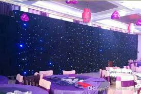 wedding backdrop material cheap high quality blue white colors shiny led curtain