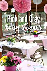 pink and gray baby shower pink and gray elephant themed baby shower