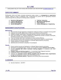 Sample Resume General by The Incredible Resume Executive Summary Example Resume Format Web