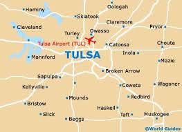 map of tulsa tulsa maps and orientation tulsa oklahoma ok usa