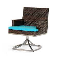 Swivel Rocker Patio Chairs Caluco Mirabella Modern Wicker Swivel Rocker Dining Patio Chair