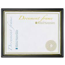 certificate frame wall mountable certificate frame gold border plastic 8 12 x