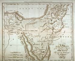Map Of Israel A Map Of The Journeyings Of The Children Of Israel From Egypt