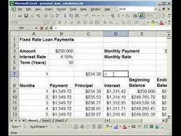 how to find interest u0026 principal payments on a loan in excel youtube