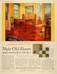 1928 ad armstrong cork linoleum floors interior design original