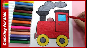 preschool coloring pages color train coloring