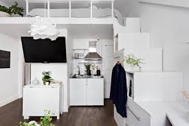 small efficient studio apartment with loft bed studio u0026 loft