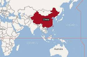 china on a map map of china