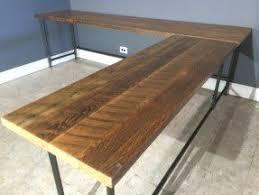 wood l wood l shaped desk foter