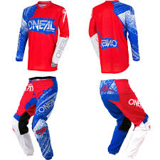 cheap youth motocross boots oneal element burnout blue red dirtbike mx gear jersey pants