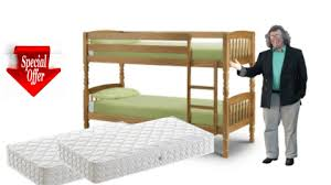 Albany Pine Bunk Bed With Two Mattresses Mattress Micks - Matresses for bunk beds