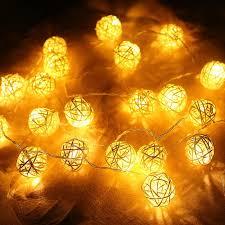 warm white string fairy lights christmas lights garlands 4m 20 led rattan ball led string fairy