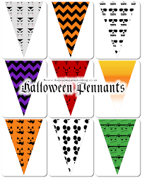 Printables For Halloween Halloween Pennants Free Printables For Craftyoctober The