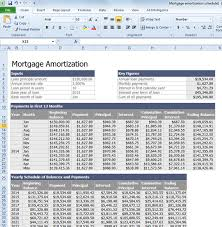 Amortization Schedule Excel Template Free Calculate Mortgage Loan Amortization With An Excel Template