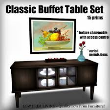 Dining Room Set With Buffet Second Life Marketplace Classic Buffet Table Set Texture