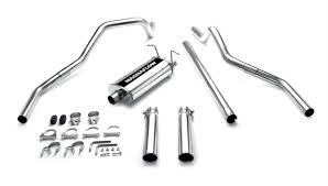1997 ford f150 exhaust system 1997 2003 4 6l 5 4l f150 magnaflow dual exit cat back exhaust 15749