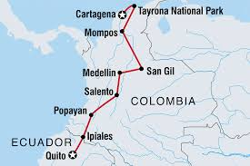 Columbia Map South America by Colombia Tours U0026 Travel Intrepid Travel Au