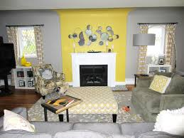 Living Room Style Yellow And Grey Living Room Beautiful Interior Design