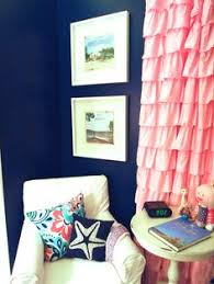 Navy And Pink Curtains Entry Inspiration Navy Wall Center Cabinet And White Chair