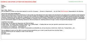 java ui developer web offer letters