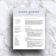 Cv And Resume Templates 3 Page Resume Template Cv Resume Templates Creative Market