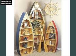 Nautical Bookcase Canoe Boat Shelves Useful Pictures Of Canoe Boat Shelves Ideas