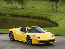 Ferrari 458 Yellow - stock tom hartley jnr