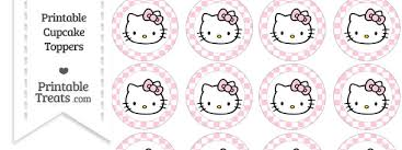 hello cupcake toppers free pink checker pattern hello cupcake toppers printable