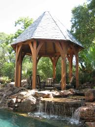 architecture diy backyard waterfall with garden seating and