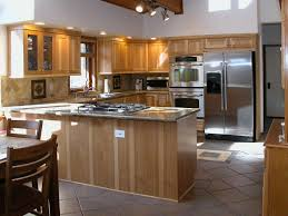 Natural Hickory Kitchen Cabinets by Kitchens Unique Design Cabinet Co