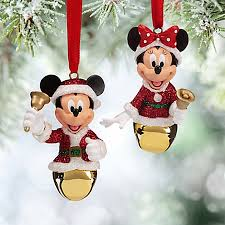 ornament set mickey and minnie mouse bells