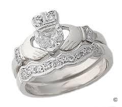 claddagh set diamond claddagh engagement wedding ring set i always dreamed