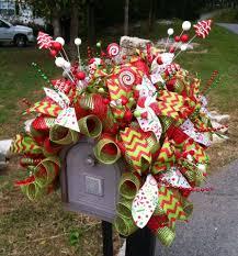 christmas deco mesh mailbox cover www countrychicscreations com
