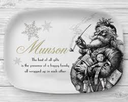 monogrammed serving platters christmas platter etsy
