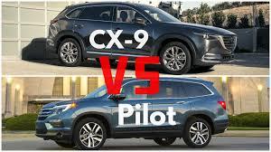 honda pilot size comparison 2016 mazda cx 9 vs honda pilot