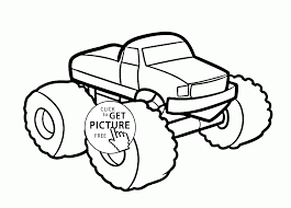 monster car coloring page for kids transportation coloring pages