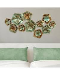 geometric home decor surprise 50 off stratton home decor geometric pentagon metal wall