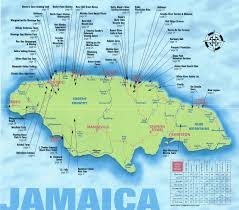 Jamaica Map Negril Jamaica Map