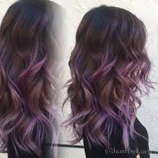 purple ombre balayage black hairstyles pinterest purple