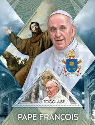pope francis souvenirs togo pope francis souvenir st sheet 20h 622 ebay