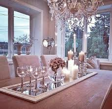 dining table center lovely table center add a mirror for elegance and