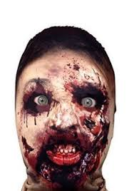 Realistic Scary Halloween Costumes Horror Hairy Scary Face Clown Mask Halloween Creepy Realistic