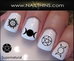 supernatural nail decal symbols nail designs by nailthins on etsy