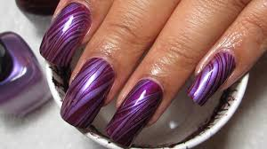 purple stripes water marble nail art tutorial manicure may 3