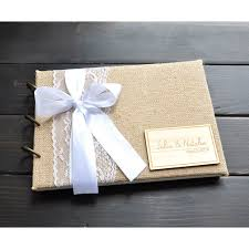 rustic wedding photo albums personalized wedding guest book burlap wedding guestbook album